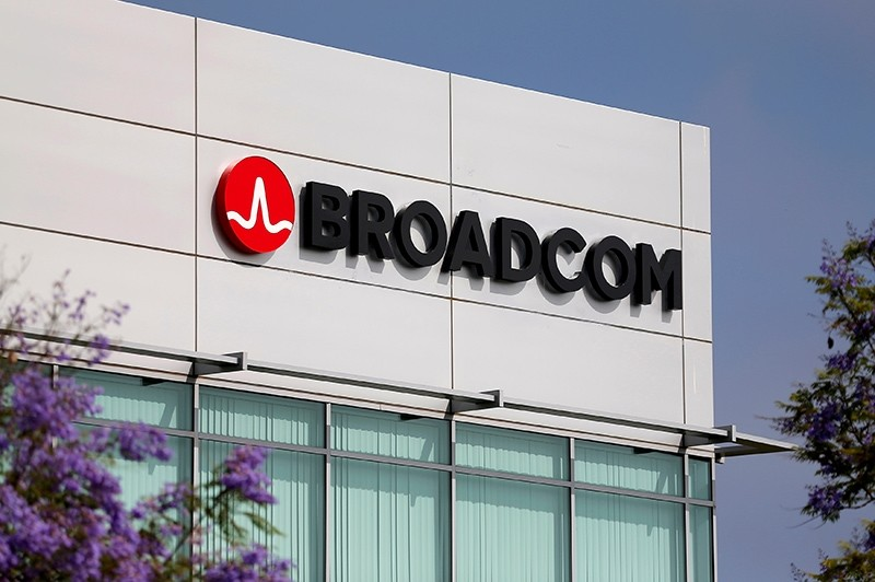 Broadcom Limited company logo is pictured on an office building, Rancho Bernardo, Cali., U.S., May 12, 2016. (Reuters Photo)