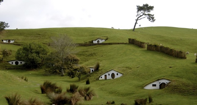 The remains of the Hobbiton movie set from the film The Lord of the Rings at the town of Matamata in the North Island of New Zealand, September 2007.