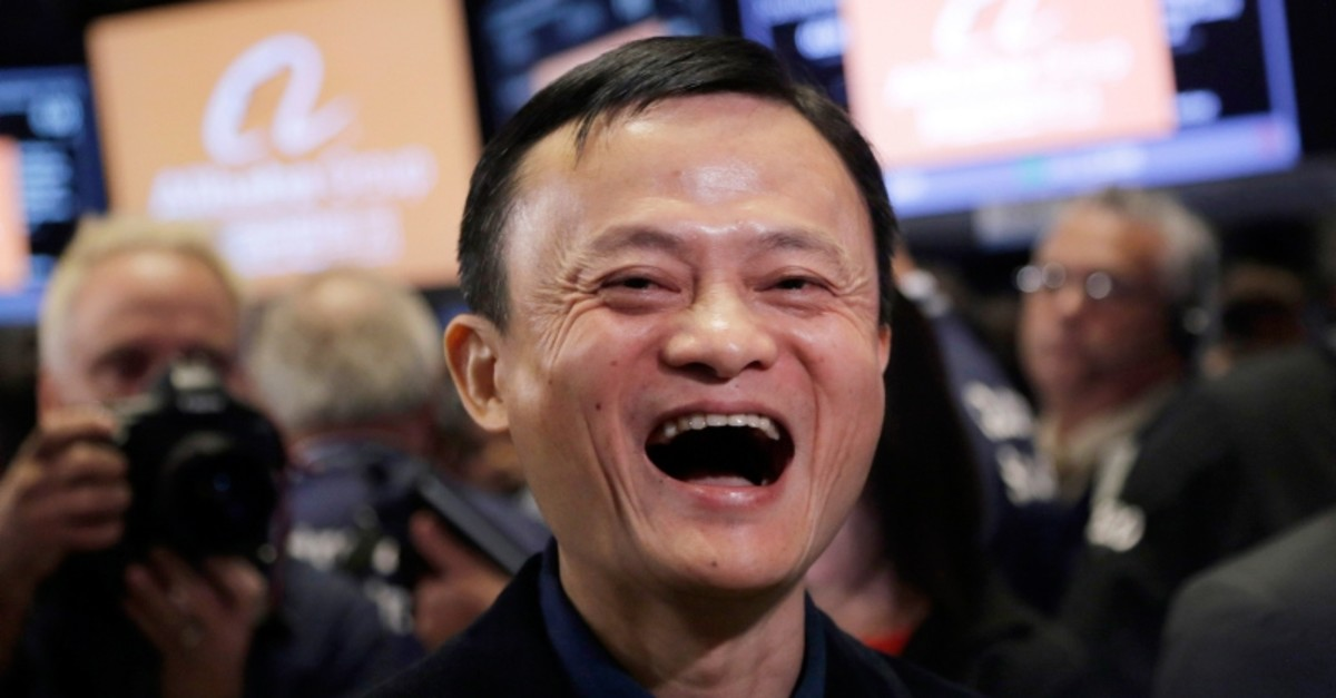 In this Sept. 19, 2014, file photo, Jack Ma, founder of Alibaba, smiles during the company's IPO at the New York Stock Exchange in New York. (AP Photo)
