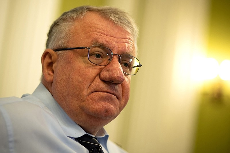 In this photograph taken on March 29, 2018, Serbian Radical Party leader, Vojislav Seselj speaks during an interview with AFP in Belgrade. (AFP Photo)