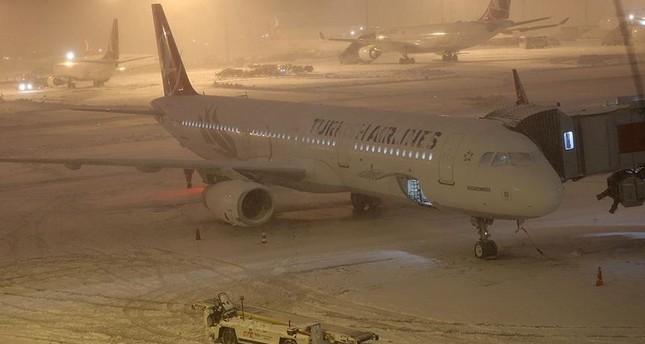 Mehr Als 800 Flüge Wegen Schnee Und Glätte Gestrichen Daily Sabah