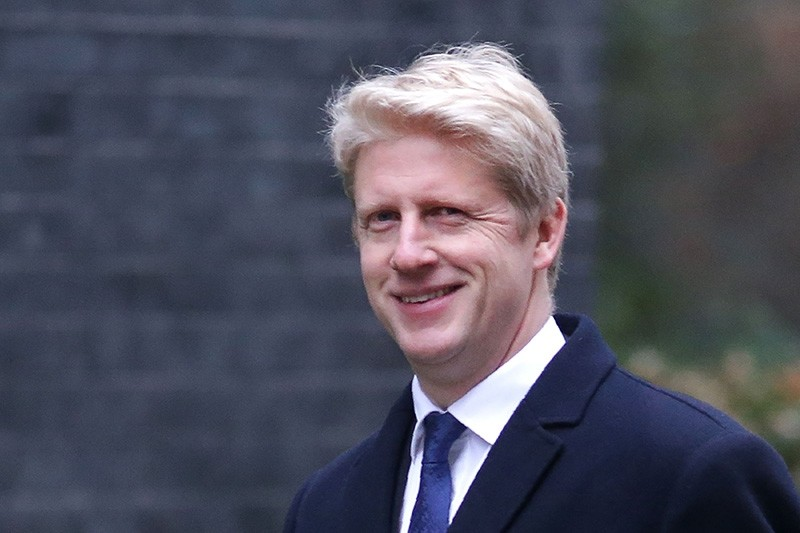 In this file photo taken on January 9, 2018 Conservative party MP Jo Johnson leaves 10 Downing street in central London after the first cabinet meeting of the new year following a reshuffle on Jan. 9, 2018. (AFP Photo)