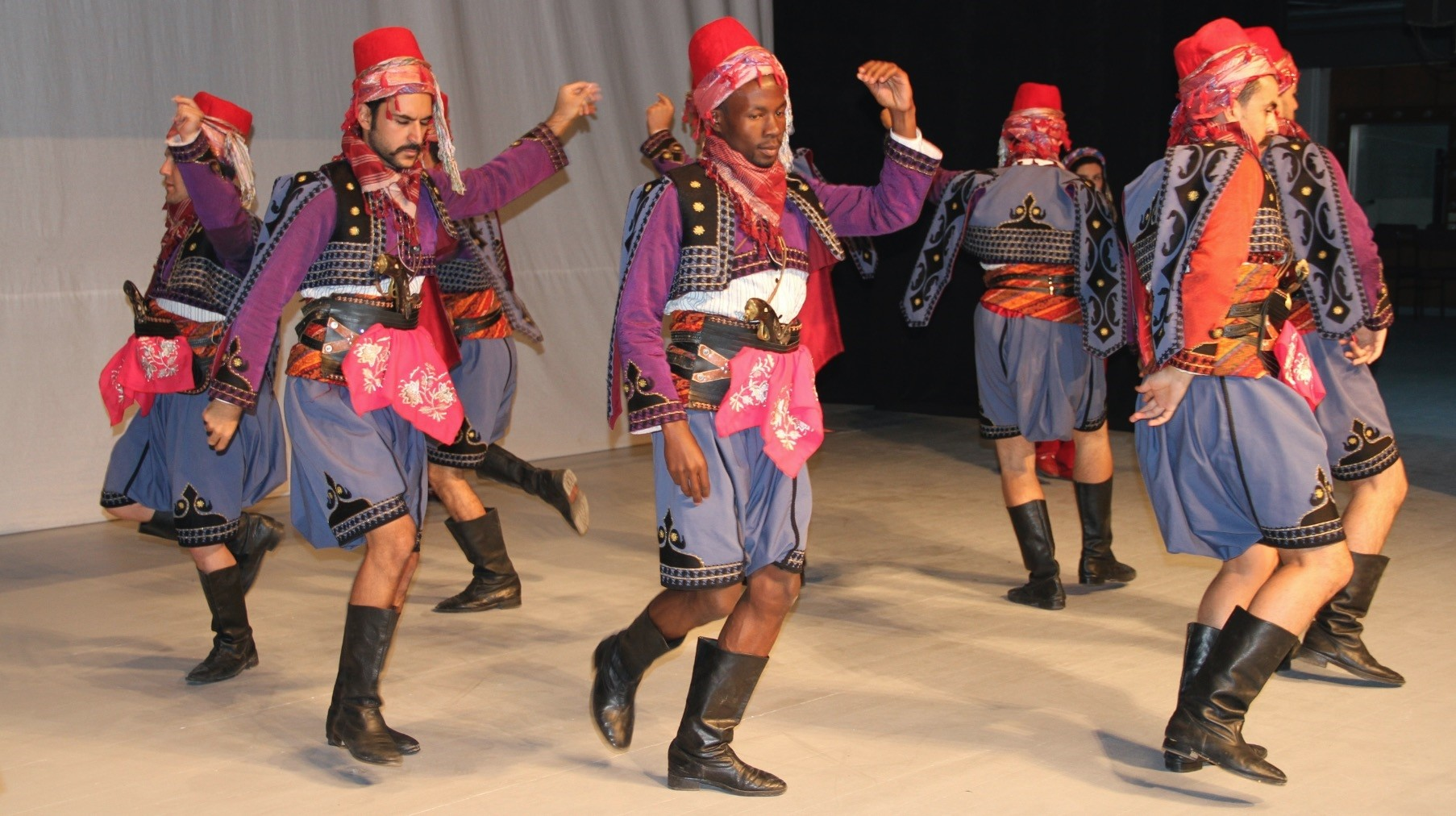 Getting a chance to know Turkish culture better, Mugenzi practices Turkish folk dances from various regions with his friends.