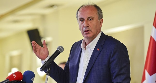 CHP presidential candidate Muharrem Ince speaks at an event in the Black Sea Region's Trabzon province, May 11. (DHA Photo)