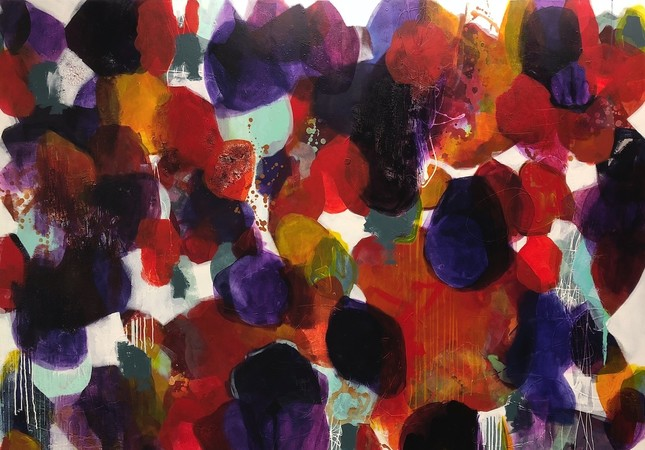 An illustrious palette: The abstract paintings of Nissa Raad