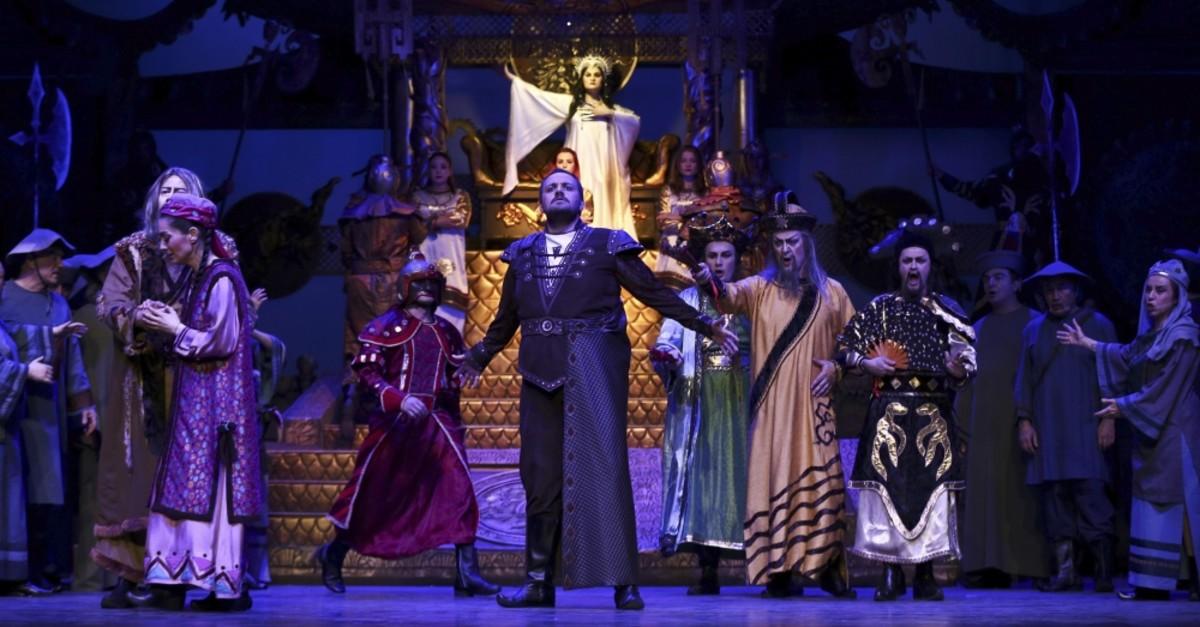 A scene from ,Turandot, opera.