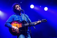 Singer Miles Michaud of the rock band Allah-Las performs on stage during their concert at the 25th Sziget (Island) Festival in northern Budapest, August 13, 2017. (EPAPhoto)