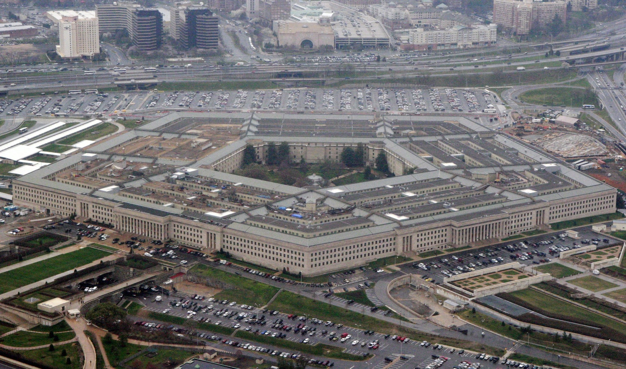 In this March 27, 2008 file photo, the Pentagon is seen in this aerial view in Washington. (AP Photo)