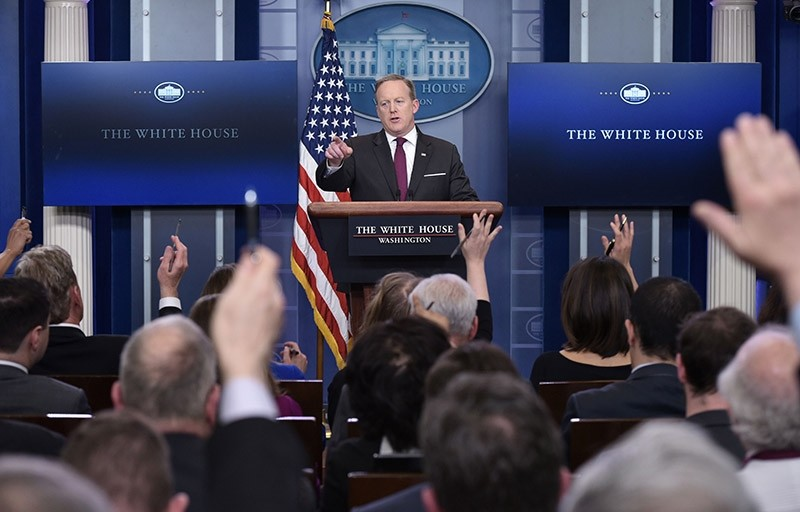 White House Press Secretary Sean Spicer speaks during the daily briefing in the Brady Briefing Room of the White House on February 23, 2017 (AFP Photo)