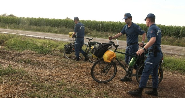 Photo shows the bikes used by Maximilian and Bruyas after the former was struck by lightning. (AA Photo)