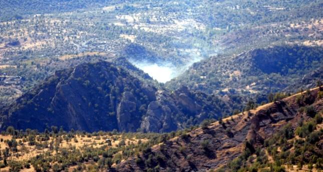 موقع لـ بي كا كا في جبال قنديل استهدفته القوات التركية