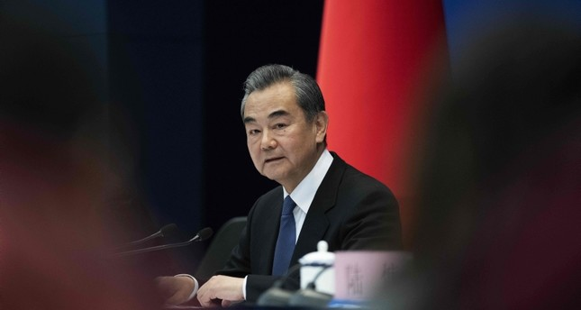 China's Foreign Minister Wang Yi speaks during a press conference briefing on the Belt and Road Summit at the Ministry of Foreign Affairs in Beijing on April 19, 2019. (AFP Photo)