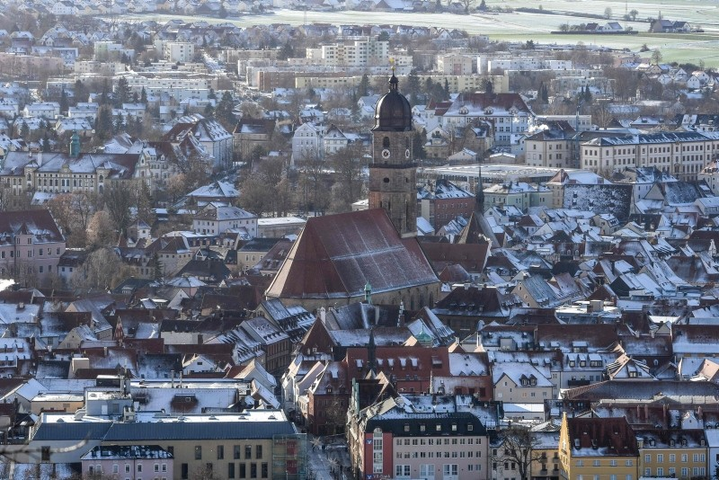 General view taken on January 2, 2019 shows the city centre of Amberg, southern Germany. (AFP Photo)