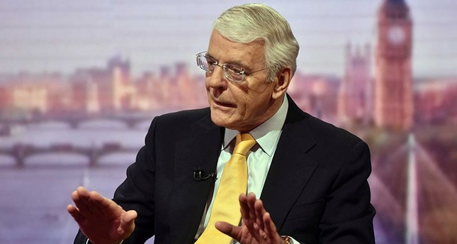Former prime minister John Major is seen speaking on the BBC's Andrew Marr Show in this photograph received via the BBC in London, June 5, 2016. (Reuters)