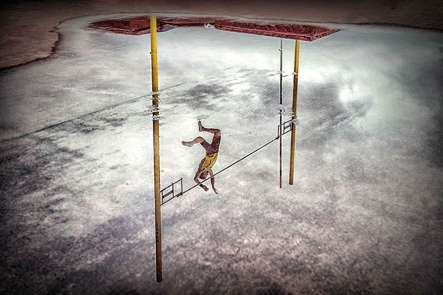 Reflection Pole Vault, Bilbao, Spain - 1st place, Sports in Action