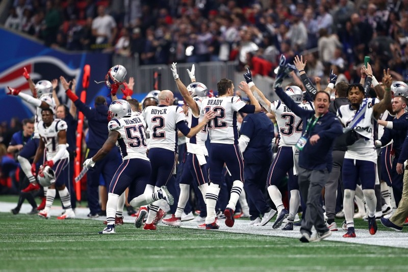 Tom Brady #12 of the New England Patriots celebrates teams 13-3 win over the Los Angeles Rams during Super Bowl LIII at Mercedes-Benz Stadium on February 03, 2019 in Atlanta, Georgia. (AFP Photo)