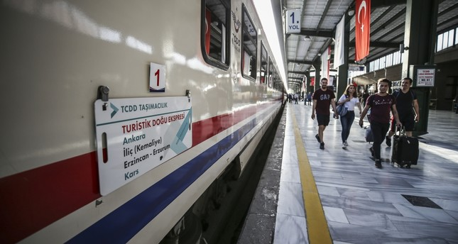The Touristic Eastern Express, which has a capacity of 120 passengers, will complete the route between the capital of Ankara and the eastern province of Kars in 32 hours.