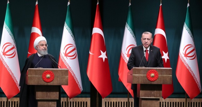 President Tayyip Erdoğan and his Iranian counterpart Hassan Rouhani hold a joint news conference after their meeting in Ankara, Turkey, Dec. 20, 2018. (Reuters Photo)