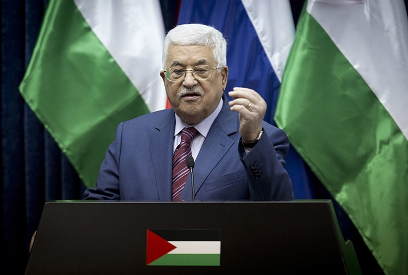 In this Friday, Nov. 11, 2016, file photo, Palestinian president Mahmoud Abbas speaks during a press conference with Russian Prime Minister Dmitry Medvedev (AP File Photo)