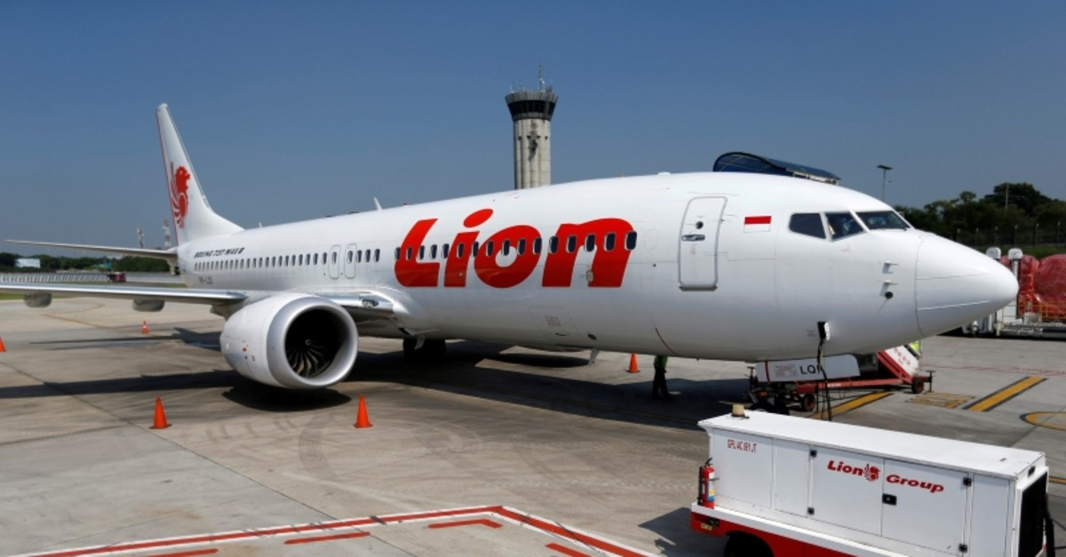 Lion Air's Boeing 737 Max 8 airplane is parked on the tarmac of Soekarno Hatta International airport near Jakarta, Indonesia, March 15, 2019 (Reuters Photo)