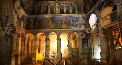 جهود تركية وإيطالية مشتركة لترميم جدارية أثرية توثق حياة المسيح