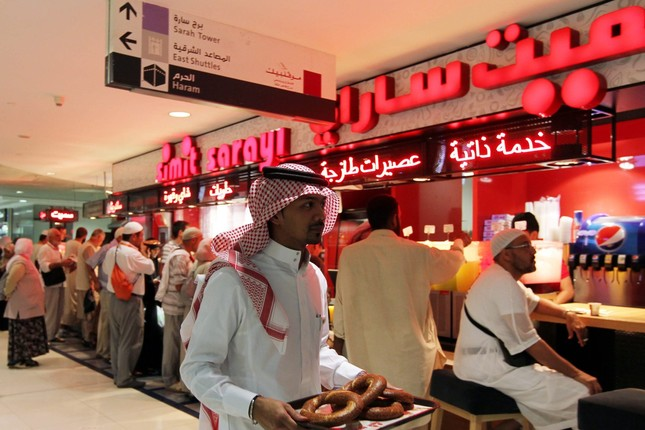 The Zemzem Tower branch of Simit Sarayı, which recently opened its 34th branch in Saudi Arabia.