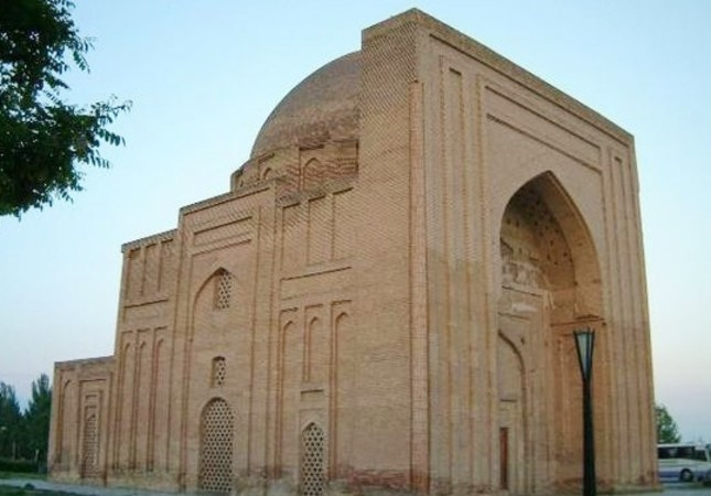 The mausoleum of Al-Ghazali is thought to be situated at the entrance of the Haruniyah structure in Tus, Iran.