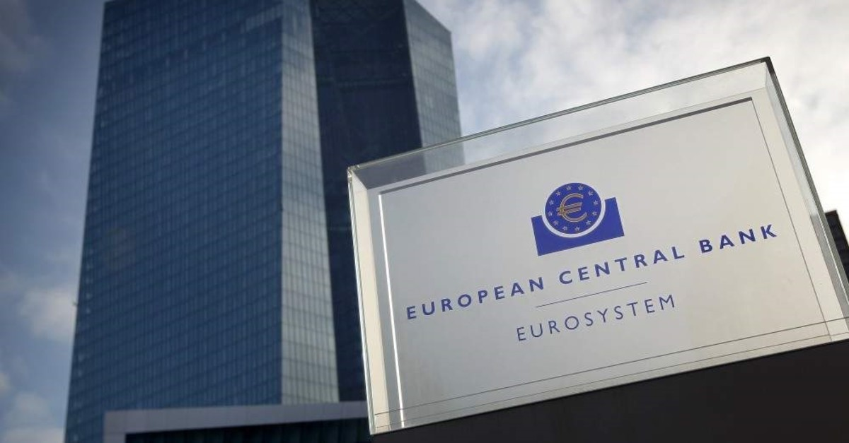 The headquarters of the European Central Bank (ECB) is pictured in Frankfurt am Main, western Germany, Jan. 23, 2020.