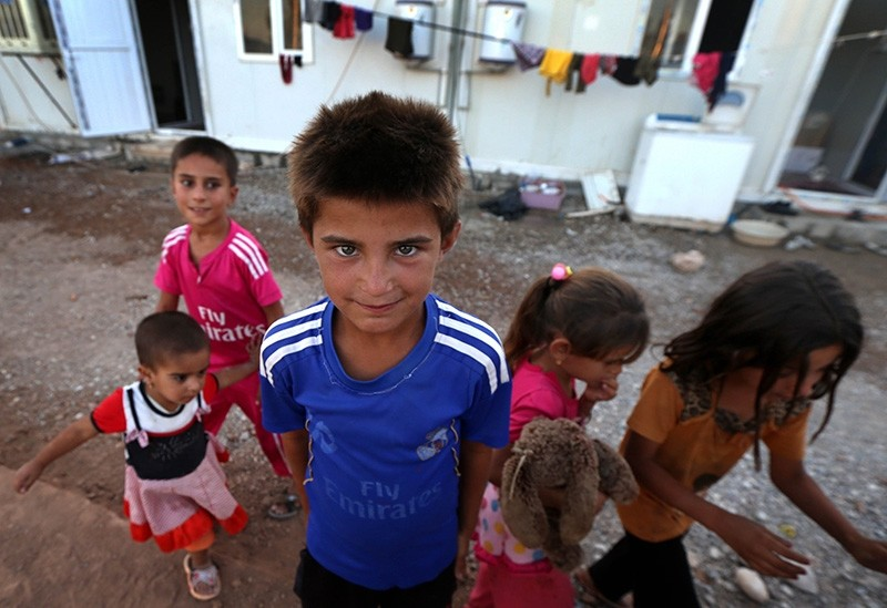 Displaced Iraqi children (Sabah File Photo)