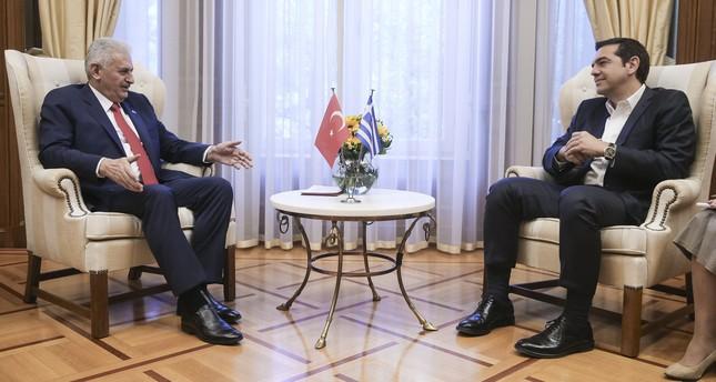 يلدريم لرئيس وزراء اليونان: عليكم تخفيض التوتر في بحر إيجه