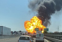 1 dead, dozens injured after road accident causes explosion near Italy's Bologna