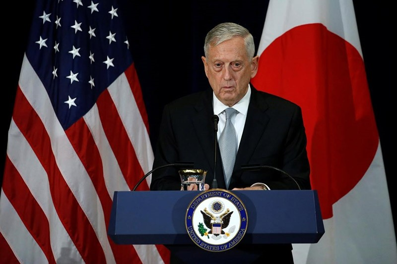 U.S. Defense Secretary James Mattis, with his Japanese counterparts, participates in a news conference after their U.S.-Japan Security talks at the State Department in Washington, U.S., August 17, 2017. (Reuters Photo)