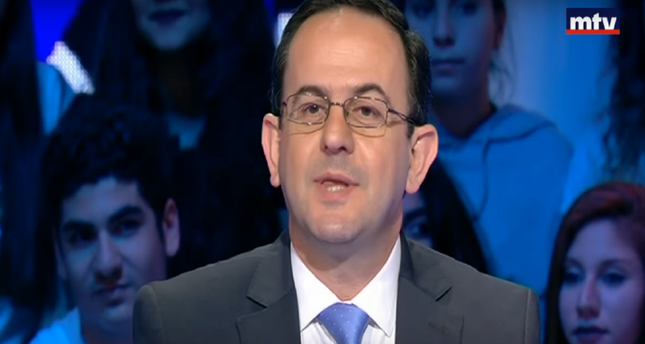 Tourism Minister Avadis Kadanian speaks during an interview on MTV Lebanon on March 31, Friday.