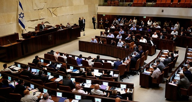 A general view shows the plenum during a session at the Knesset, the Israeli parliament, in Jerusalem on July 11, 2016. Reuters Photo