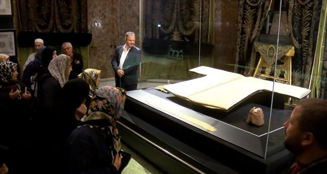 Prophet Muhammad's cloak back on display for Ramadan