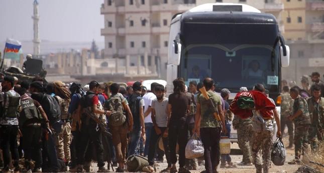 بدء إجلاء مقاتلي المعارضة من درعا نحو الشمال السوري