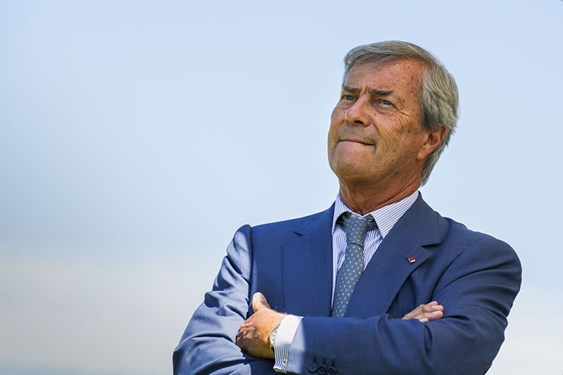 In this file photo taken on June 26, 2017, French transport and media giant Bollore's President Vincent Bollore attends the presentation of the Bretagne Prize literary award in Paris. (AFP Photo)