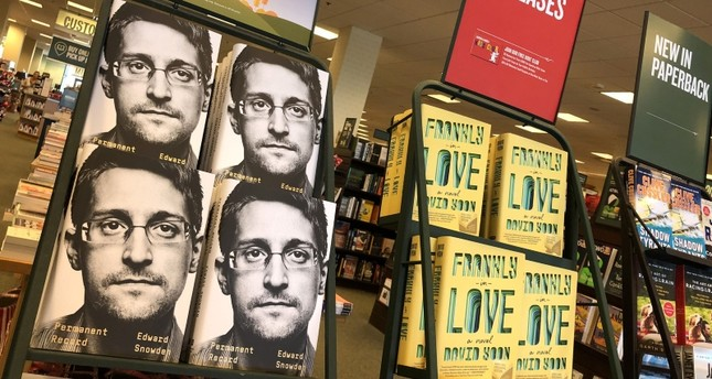 Newly released Permanent Record by Edward Snowden is displayed on a shelf at a Barnes and Noble bookstore on September 17, 2019 in Corte Madera, California. AFP Photo