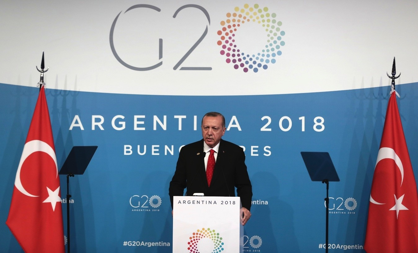 At a news conference on the final day of the G20 summit in Argentina on Saturday, President Erdou011fan made remarks about the Khashoggi murder, the Syria crisis, defending rights in the Eastern Mediterranean and more.