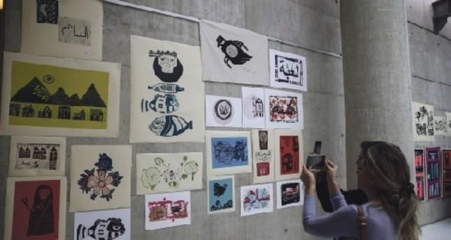 Artwork by Syrian women living in Turkey on display
