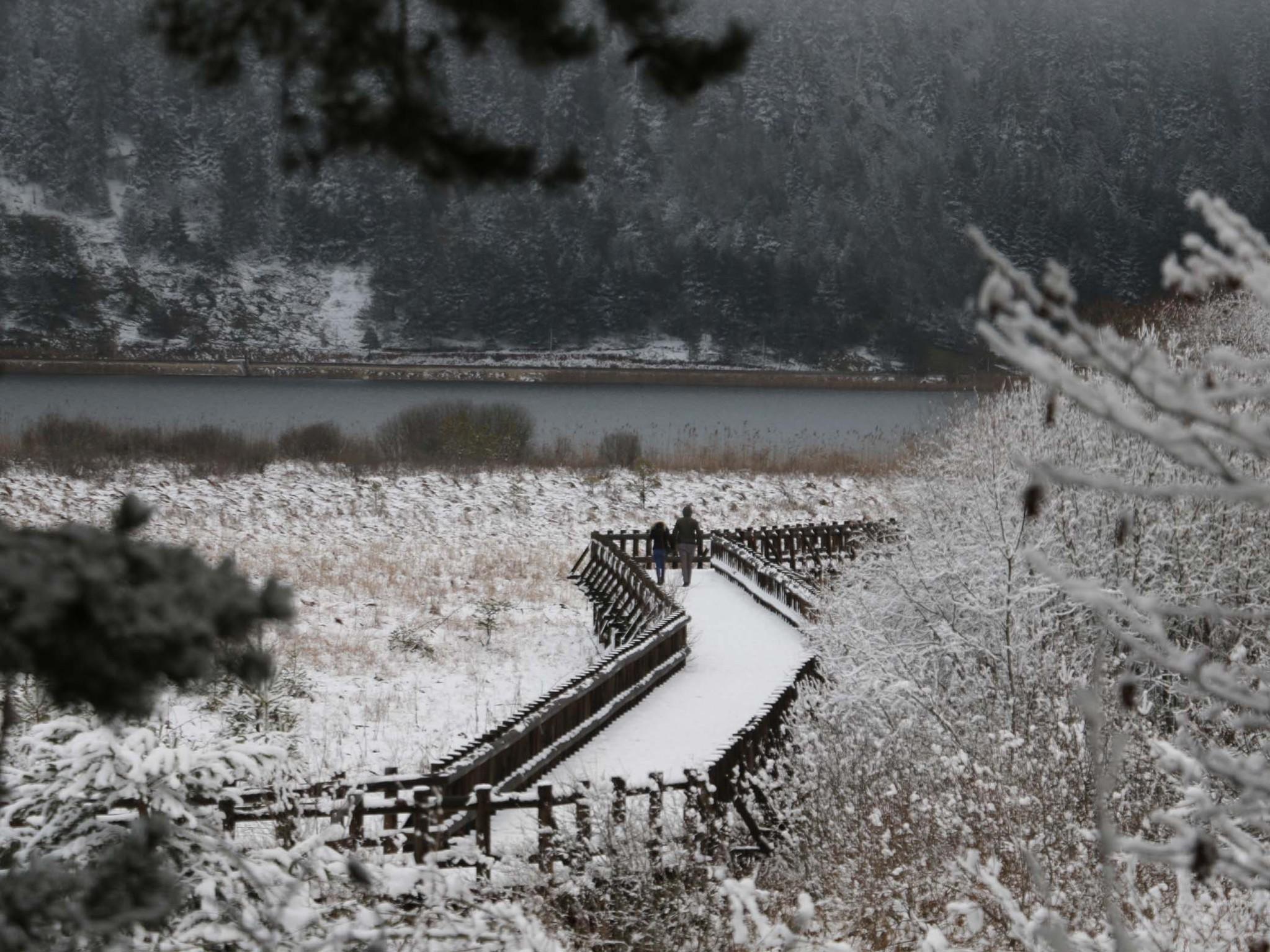 Lake Abant in winter.