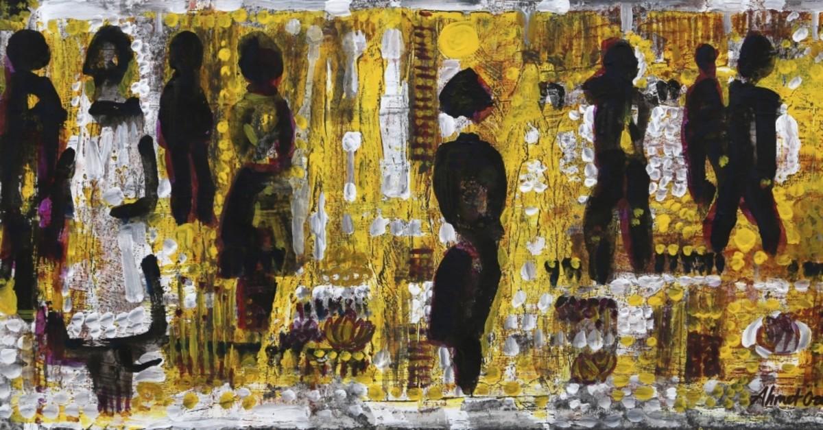 ,Seremoni, (,Ceremony,), 2019, oil painting on canvas, 48 x 70 cm.