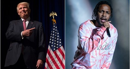 pKendrick Lamar, one of the most praised voices in hip-hop, took on both U.S. President Donald Trump and rivals in the rap world in a surprise new song./p  pThe California rapper ended the track...