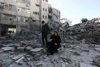 Tense quiet in Gaza after Israeli airstrikes batter enclave