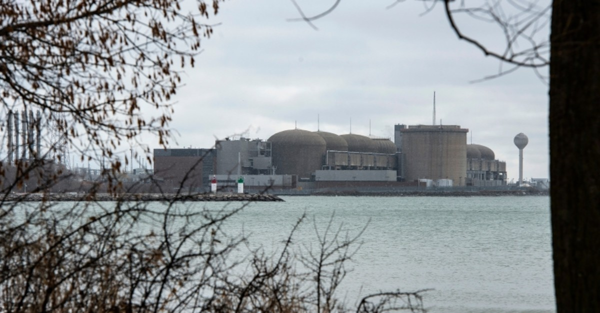 The Pickering Nuclear Generating Station, in Pickering, Ontario is seen Sunday, Jan. 12, 2020. (AP Photo)