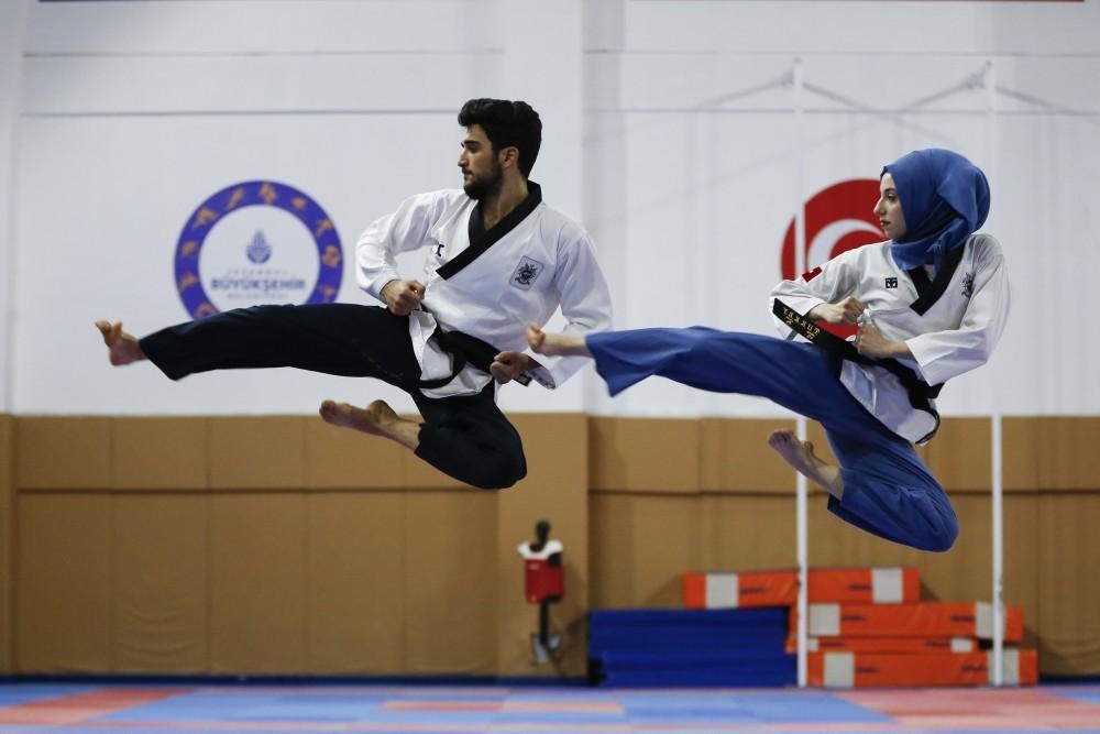 Ku00fcbra Dau011flu0131 and Emirhan Muran plan to organize events in Turkey to make taekwondo more familiar with the public.