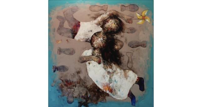Painting by Wadhah Mahdi, 150x150cm