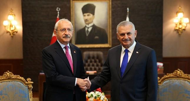 رئيس الوزراء التركي يلتقي زعيم المعارضة