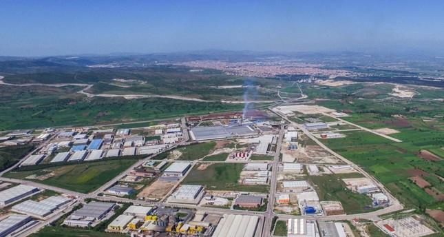 An aerial view of the Balıkesir Organized Industrial Zone (BALOSB).