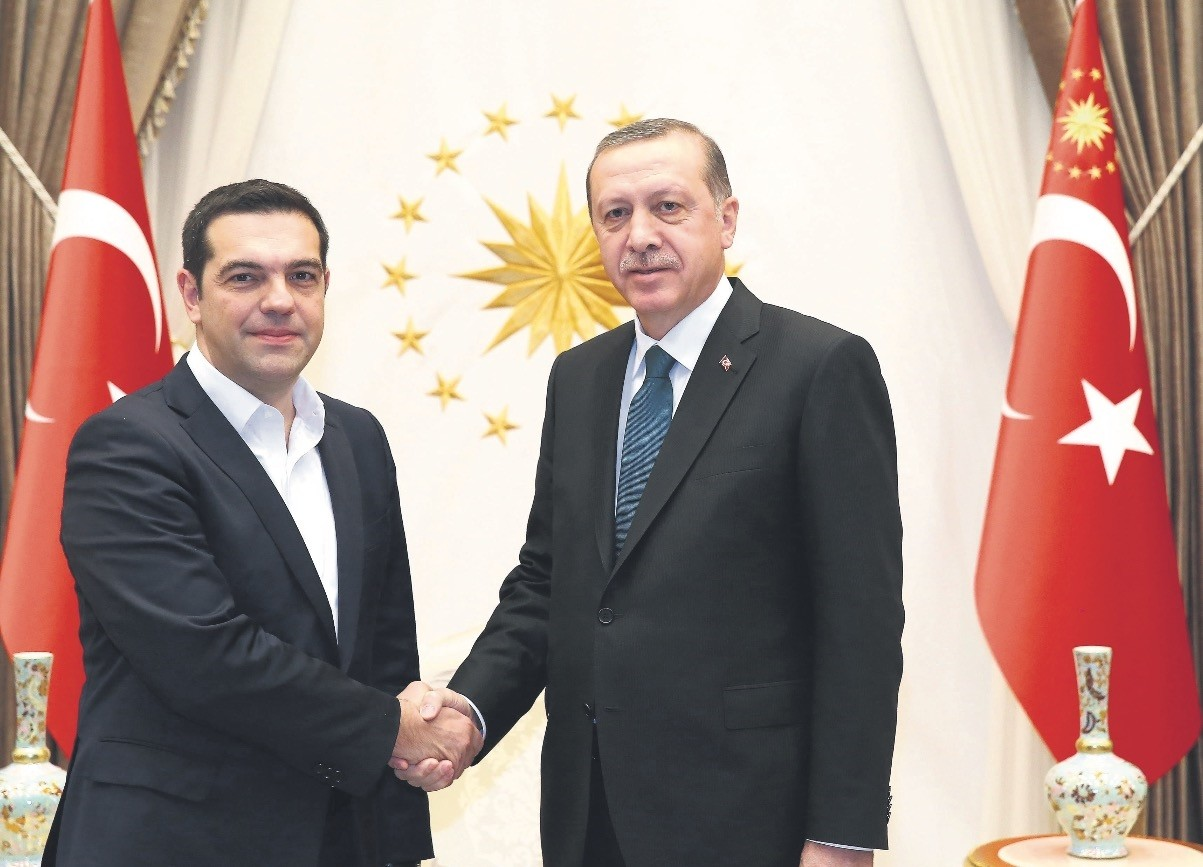 Tsipras (L) and Erdou011fan will likely discuss bilateral relations, the refugee crisis and security and regional issues, particularly Syria and Iraq, during the historic visit.